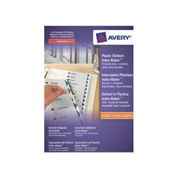 Avery IndexMaker Divider Set Polypropylene 10-Part Clear Ref 05113081 - Competition Offer