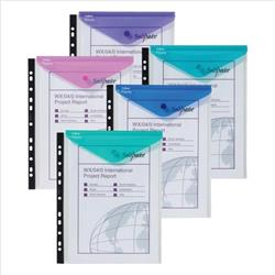 Snopake Polyfile Ring Binder Wallet High Capacity A4 Portrait Electra Assorted Ref 15695 [Pack 5] - 3 for 2