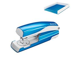 Leitz NeXXt WOW Stapler 3mm 30 Sheet Blue Ref 55021036L - FREE Leitz WOW Letter Tray