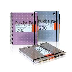 Pukka Pad Project Book Wirebound 200pp 80gsm A4 Metallic Ref 6970-MET - Pack 3 - 3 for 2