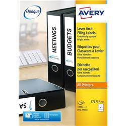 Avery Lever Arch Labels Laser Ref L7171-250 (1000 Labels) - Competition Offer