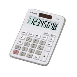 Casio Calculator Desktop Battery/Solar-powered 8 Digit 4 Key Memory 103x137x31mm White Ref MX-8B-WE