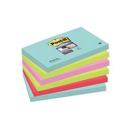 Post-It Super Sticky Notes 76x127mm Aquawave Neon Green Neon Pink Poppy Ref 70005291631 [Pack 6] - 3 for 2