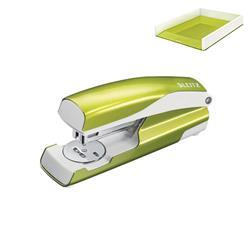 Leitz NeXXt WOW Stapler 3mm 30 Sheet Green Ref 55021064L - FREE Leitz WOW Letter Tray