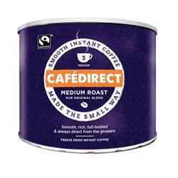 Cafe Direct Classics Instant Coffee Fairtrade Medium Roast Tin 500g Ref A02900 - 3 for 2