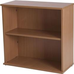 Retro 750 Wide Desk High Bookcase Warm Beech - F000116