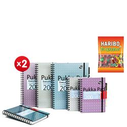 Pukka Pad Executive Project Book A5 Metallic Ref 6336-MET (Pack 3) - x2 + FREE 3 x Haribo Tangfastics