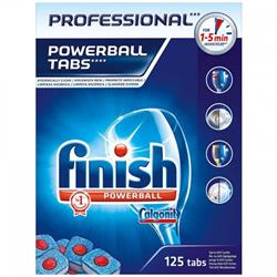 Finish Professional Powerball Dishwasher Tabs Ref RB088851 [Pack 125] - 2 for 1