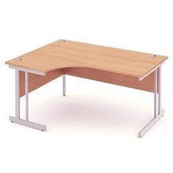 Impulse Cantilever 1600 Left Hand Crescent Desk Beech Ref I000299
