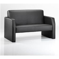 Oracle Twin Break Out And Reception Sofa Black Bonded Leather -