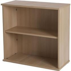 Retro 750 Wide Desk High Bookcase Blonde Oak Ref F000157