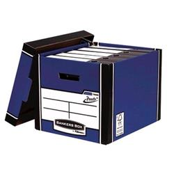 Bankers Box Premium Storage Box Tall FSC Blue and White Ref 7260603 [Pack 12] [12 for the price of 10] - 2 for 1