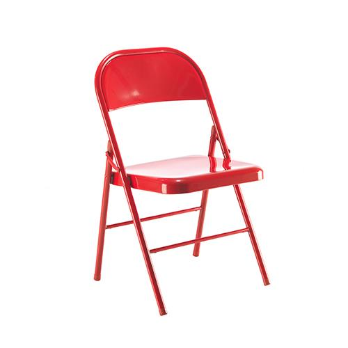 metal folding chair red kf73587 5030037735878 discount