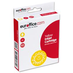 Euroffice compatible inkjet cartridge built from new components. Inkjet cartridge blister packaging is produced from R-PET, containing up to 80% recycled plastic. 2 year warranty on inkjet cartridges. Euroffice Cartridge Colour Yellow