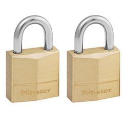 Master Lock Padlock Brass 20mm Ref 120EURT [Pack 2]