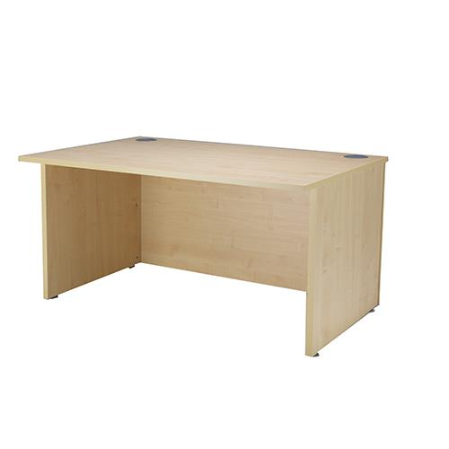 Essentials Ultra 1600mm Reception Desk Maple Uk Office Direct Ltd