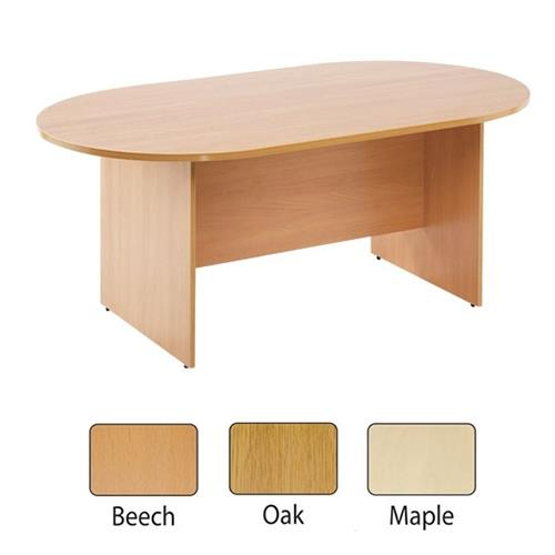 Essentials 2400mm Boardroom Table Maple Uk Office Direct Ltd