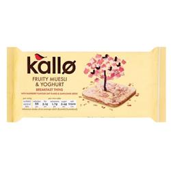 Kallo Gluten-free Rice Cake Thins Muesli and Yoghurt 90g Ref A07901
