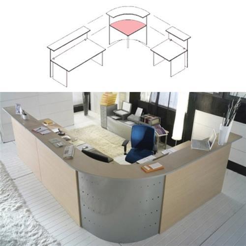 Scrivania angolare per reception alessandria unisit for Reception scrivania
