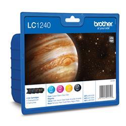 Originale Brother LC-1240VALBP Conf. 4 cartucce inkjet blister nero+ciano+magenta+giallo