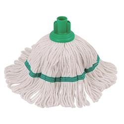 Robert Scott & Sons Hygiemix T1 Socket Mop Cotton & Synthetic Colour-coded 200g Green Ref 103062GREEN