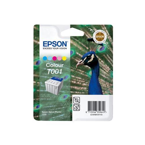 Foto Originale Epson C13T00101120 Cartuccia blister RS+RF T001 5 colori Inkjet
