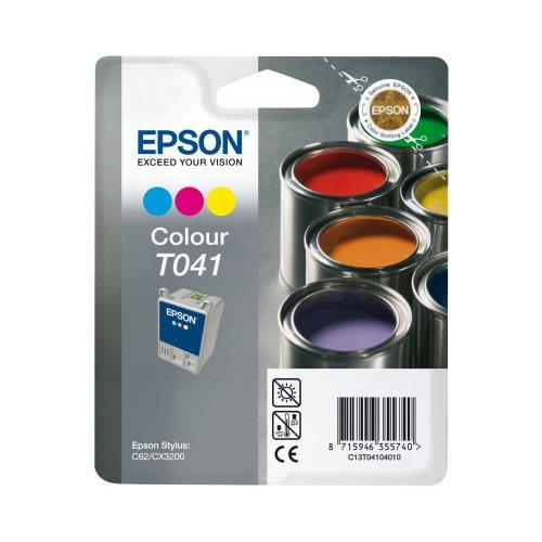 Foto Originale Epson C13T04104020 Cartuccia blister RS+RF T041 3 colori Inkjet