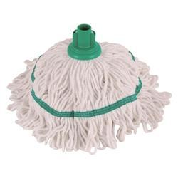 Robert Scott & Sons Hygiemix T1 Socket Mop Cotton & Synthetic Yarn Colour-coded 250g Green Ref YLTG250