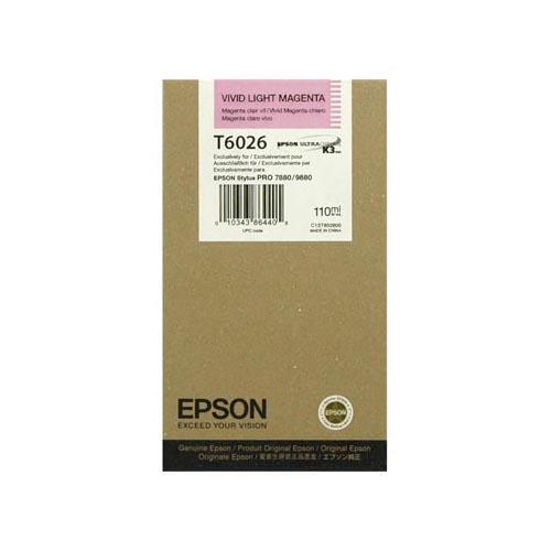 Foto Epson C13T602600 Cartuccia ULTRACHROME K3 T6026 magenta chiaro Inkjet
