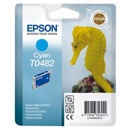 Foto Originale Epson C13T04824020 Cartuccia blister RS+RF T0482 ciano Inkjet