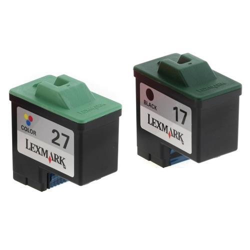 Foto Originale Lexmark 80D2952B Conf. 2 cartucce blister B #17 - #27 nero Inkjet