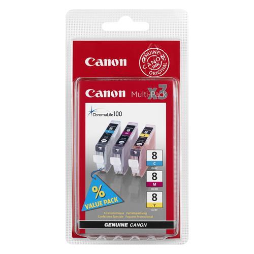 Foto Originale Canon 0621B029 ink Chromalife 100 CLI-8 ciano+magenta+giallo Inkjet