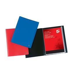 5 Star Office Display Book Soft Cover Lightweight Polypropylene 10 Pockets A4 Red