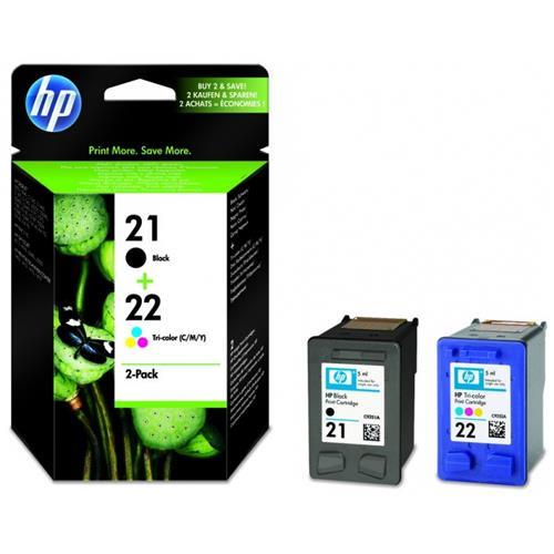 Foto Originale HP SD367AE - Conf. 2 cartucce inkjet 21/22 blister - Nero