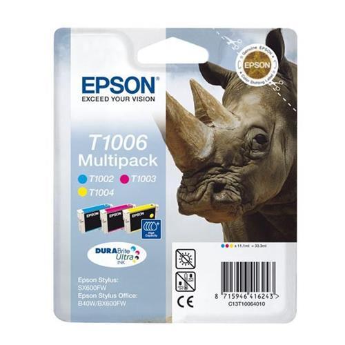 Foto Cartuccia originale Epson T1006 alta resa - 3 colori - C13T10064010 Inkjet