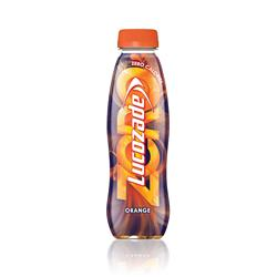 Lucozade Zero Orange Drink Bottle 380ml Ref 96716 [Pack 24]
