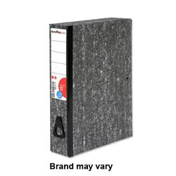 Euroffice Box File Lock Spring with Ring Pull 75mm Spine Foolscap Cloudy Grey [Pack 10]