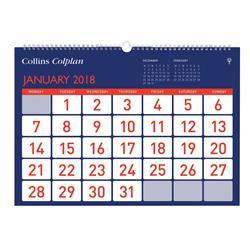Collins Colplan 2018 Easyview Calendar Ref CECA4 2018