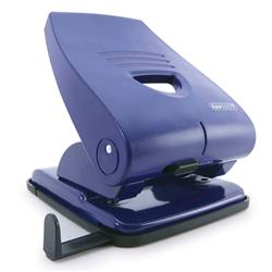 Rapesco 835-P Heavy Duty 2-hole Metal Punch with Lock-down Handle Capacity 40x 80gsm Blue Ref PF835PL2