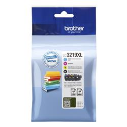Brother LC3219XLVAL Inkjet Cartridge Page Life 3000pp Black 1500pp Colour CMYK Ref LC3219XLVAL [Pack 4]