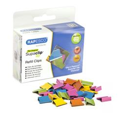 Rapesco Supaclips 40 Refill 150 Clips Multicoloured Ref CP15040M