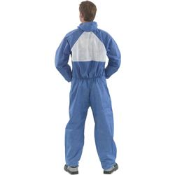 Image of 3M 4530 Fire Resistant Coverall Blue/White M - 4530M