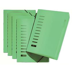 Pagna Classic 6 Part File Elastic Corner Straps Polypropylene A4 Green Ref 4005603 [Pack 5]
