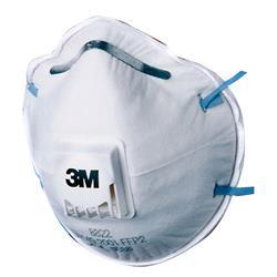Image of 3M 8822 Mask Ffp2V (5 Pack) - 8822SP