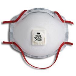 Image of 3M 8833 Mask Ffp3V (5 Pack) - 8833SP