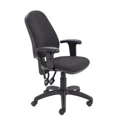Calypso II High Back Chair with Adjustable Arms - Charcoal Ref CH2800CH+AC1040