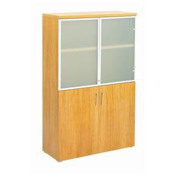 Regent Tall Glass Cupboard - Light Walnut - TR1640GCPLW