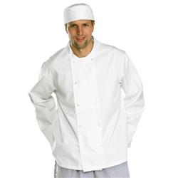 Image of Click Workwear Chefs Jacket Long Sleeve White S - CCCJLSWS