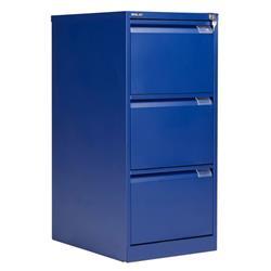 Bisley 3 Drawer Classic Steel Filing Cabinet - Blue - BS3E/BLUE