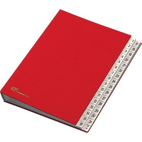 Foto Classificatore numerico Fraschini rosso A4 Rubriche